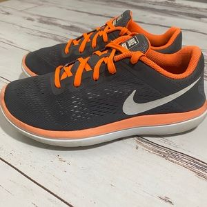 Toddler Boy Size 9 Navy Blue Orange Sneakers Trainers Athletic Shoes GAP Baby